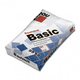 Baumit Basik, клеевая смесь для тонкослойного приклеевания керамических плиток, 25кг