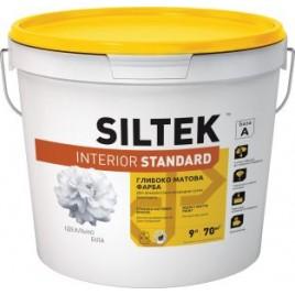 Interior Standard SILTEK, Краска акриловая для внутренних работ. Стойкая к сухому истиранию. Матовая