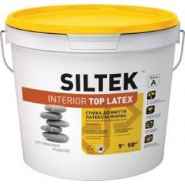 Interior Top Latex SILTEK, Краска акриловая для внутренних работ. Стойкая к влажному истиранию. Матовая