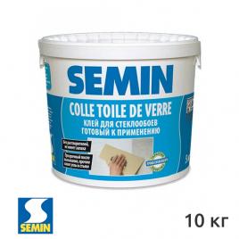 Клей Semin Colle Toile De Verre для стеклообоев и стеклохолста, 10л