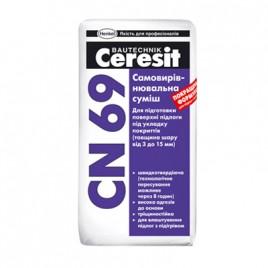 СN-69 CERESIT, самовыравнивающаяся смесь для пола, от 3 до 15мм