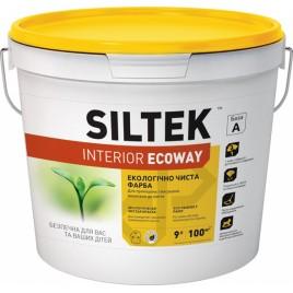 Elite SILTEK, 9 л база А, Краска акриловая для внутренних работ. Стойкая к мытью. Матовая