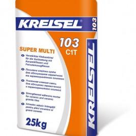 KREISEL Super MULTI 103, клеевая смесь для облицовки плиткой из керамогранита, 25кг